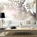 murando - Fototapete 350x245 cm - Vlies Tapete - Moderne Wanddeko - Design Tapete - Wandtapete - Wand Dekoration - Blumen Lilien Abstrakt Ornament Bokeh b-A-0012-a-b