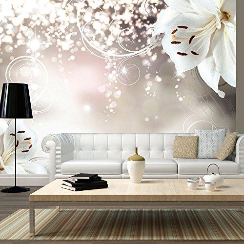 murando - Fototapete Blumen 350x245 cm - Vlies Tapete - Moderne Wanddeko - Design Tapete - Wandtapete - Wand Dekoration - Lilien Abstrakt Ornament Bokeh b-A-0012-a-b