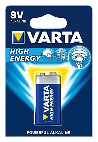 Varta High energy Batterie (9V Block, Alkaline, 6LR61, 1er - Die Ladegerät Wii-fernbedienung