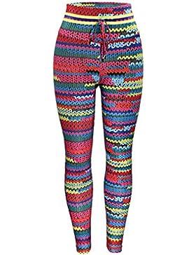 Duuozy Mujeres Coloridas Lana Impresa Pantalón Yoga Fitness Pantalones Deportivos Push Hasta Alta Cintura Elástico...