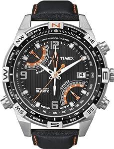 Reloj Timex T49867AU de caballero de cuarzo con correa de piel negra de Timex