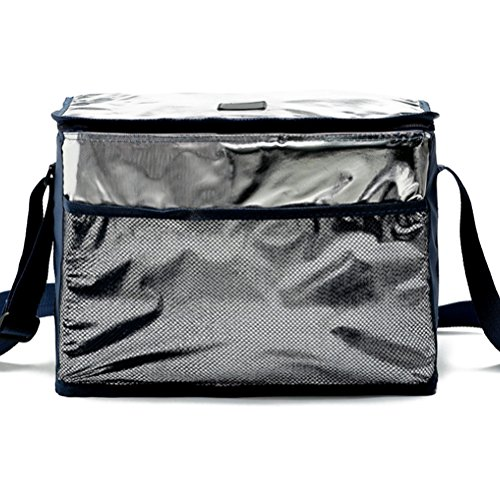 Zhhlaixing High-quality All'aperto Insulated Cooler Bag Picnic Lunch Bag Shoulder Bag Adjustable Navy blue