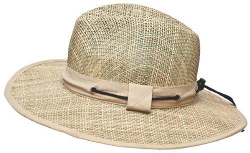 I-Smalls Chapeau de Paille Homme Naturel Bande Coton Fermeture Bouton