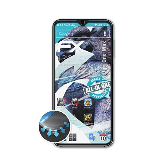 atFolix Schutzfolie passend für UMiDigi One Max Folie, ultraklare & Flexible FX Bildschirmschutzfolie (3X)