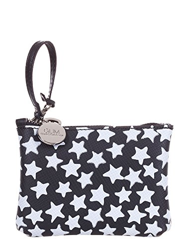 GUM BY GIANNI CHIARINI PORTACHIAVI LATTICE NERO STELLE STARRY 001