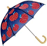 Hatley Mädchen Regenschirm Printed Umbrellas, Blau (Polka Dot Apples), Einheitsgröße
