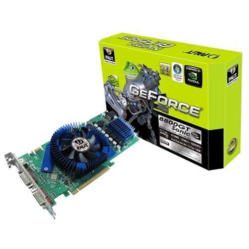 Palit Nvidia GF PCX 8800GT Sonic, 512 MB DDR3, PCI-E 256Bit Dual DVI Grafikkarte, 880TSxT352/NE - 512 Mb Ddr3 Video