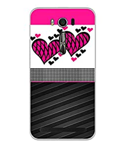 Fuson Designer Back Case Cover for Asus Zenfone 2 Laser ZE500KL (5 Inches) (Love heart Girl Pyaar Mohabbat Ishq Sweet Hearts)