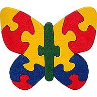 Puzzles bois 3D SPYRA. Puzzle papillon enfant 3D en bois 100% hêtre, couleurs naturelles. Fabriqué en Europe