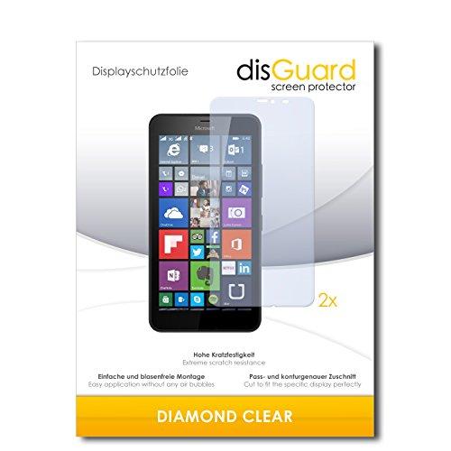 2 x disGuard® Displayschutzfolie Microsoft Lumia 640 XL Dual Sim Schutzfolie Folie