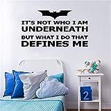 stickers muraux autocollant mural Batman Quote Superhero Home Decor Poster Decor Muraux
