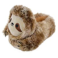 Lora Dora Girls Boys Novelty 3D Plush Slippers Sloth