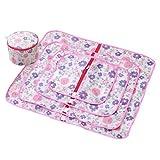 Dexinx Set von 5 Gedruckt Kleidung Mesh Wäschesäcke und Waschen Eimer für Bluse, Strumpfwaren, Unterwäsche, BH