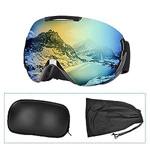 515o6isvoBL. SS300 Charlemain Maschera da Sci, Occhiali da Sci OTG, Occhiali da Snowboard Antivento Anti Fog Protezione UV400, Ampio Angolo di Visione, per a Snowboard, Motocross e Altri Sport Invernali