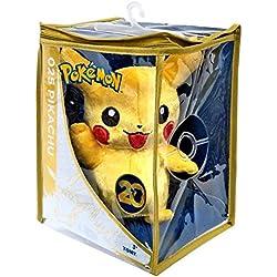Pokèmon Peluche de felpa, diseño de Pikachu, edición especial de 20aniversario, 20 cm