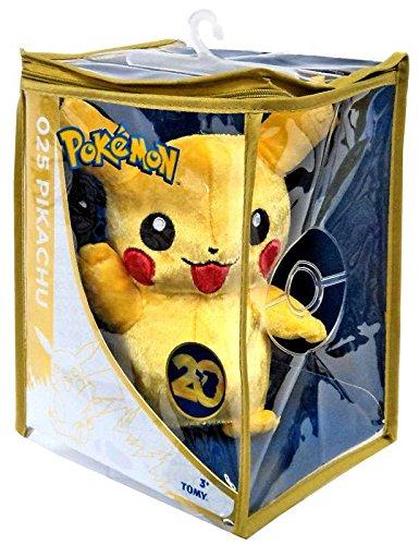 Pokemon - Peluche de felpa, diseño de Pikachu, edición especial de 20aniversario, 20 cm