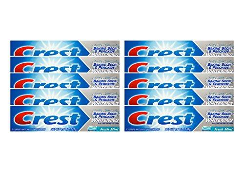 10x CREST Baking Soda & Peroxide fresh mint Zahnpasta 130g Whitening