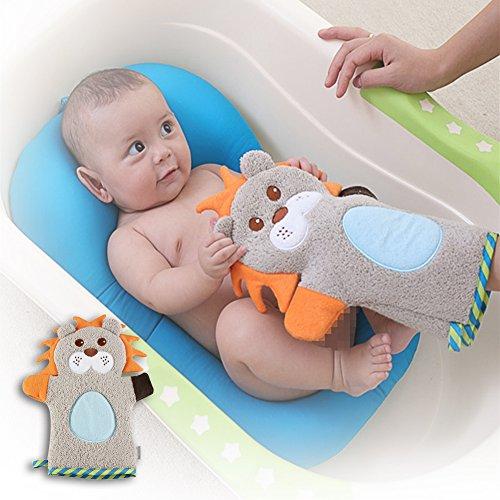 sel Mitt Handschuh 1Paar Neugeborene Kinder Kids Fun Waschen Bad Handschuhe Cute Cartoon Pure Plüsch Tier Form Baby Kleinkind weichen Pad Handtuch Kaninchen (Cartoon Handschuhe, Die Hände)