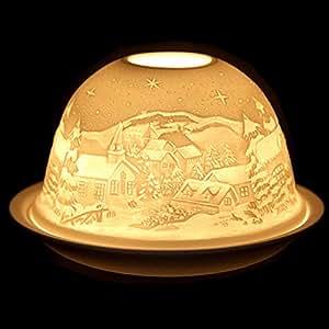 LD Natale decorazione portacandela in porcellana portacandela Wind luci tè luci natale decorazione tavolo (Consegna è 3–7giorni)