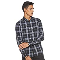 Levi's Men's Checkered Regular fit Casual Shirt (32907-0040_Black_Large)