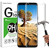 Galaxy S8 Screen Protector, Rusee Samsung Galaxy S8 Tempered Glass Screen Protector Film, Case Friendly, Ultra HD Clear, Anti-Scratch, 9H Hardness, Bubble Free, Anti-Fingerprint Curved Guard Cover for Samsung Galaxy S8