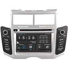 Witson® para Toyota Yaris coche estéreo, doble DIN In-Dash reproductor de DVD para Toyota Yaris 20072008200920102011con 15,75cm pantalla táctil navegación GPS TV analógica Radio RDS Bluetooth USB SD iPod Control del volante AUX IN