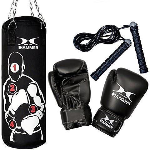 Hammer Boxsack Box- Set Sparring Pro - Saco pesados de boxeo, color negro, talla única