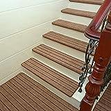 Upgrade Einfache Europa-Stil-Heim Treppe Vustom Kunststoff Anti-Skid Treppen Schritt Matten,Brown