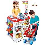 MKE Battery Operated Super Market Set with Shopping Basket Toy for Kids