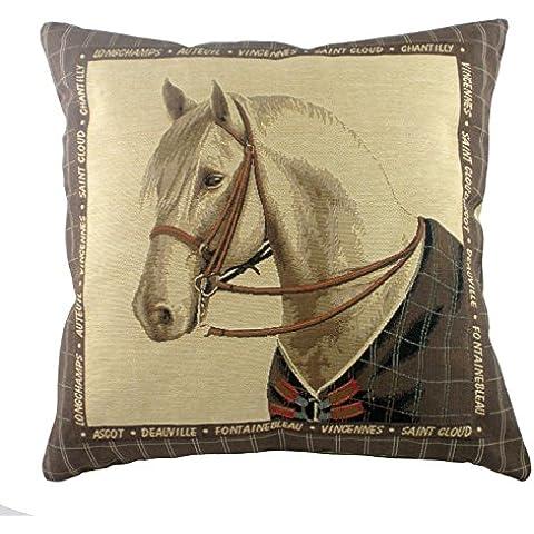 Cuscino Cavallo, bianco cavallo cuscino, Muffa, Sport equestri cuscino, ca. 45 ca x 45 cm, Equestrian
