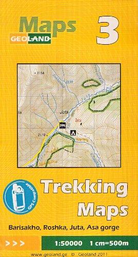 Barisakho, Roshka, Juta, Asa gorge 1:50.000 carte trekking (Géorgie, Caucase) # 3