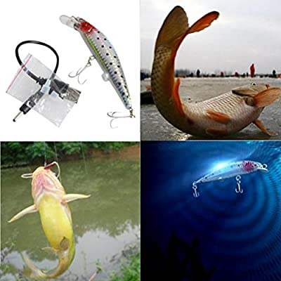 Bescita Sea Fishing Bait Set Rechargeable Twitching Fishing Lures Bait USB Recharging Cords Precious from Bescita