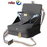 Boostersitz mit aufblasbarem Kissen, wasserabweisend, bis 15 kg belastbar, grau: Stuhlsitz Sitzerhöhung Unterwegs Tischsitz Baby Reisesitz Kindersitz