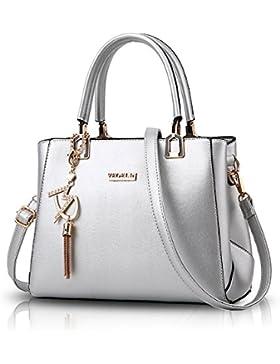 Tisdaini Damen Handtaschen Mode wild Gerdbörsen PU Schulter diagonal Handtaschen schwarzehandtasche
