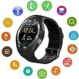 bluetooth smart watch, kkcite sport fitness - tracker tf / sim - karte mit kamera smartwatch telefon oh schlafen monitor zu fuß auf ios - android - smartphones