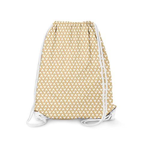 s Orange - Small (11.7 x 14.6) - Drawstring Bag Turnbeutel Gymtasche Gymsac (Orange Polka Dots)