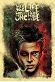 #4: PRINTELLIGENT Paper Fight Club Movie Poster (350 GSM Matte Laminated, 12x1-Inches, Multicolour)