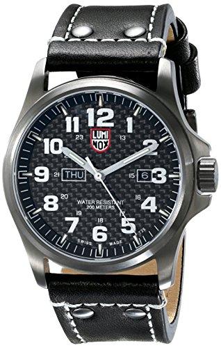 LUMI-NOX 1921 – Reloj de pulsera Hombre, Cuero, color Negro