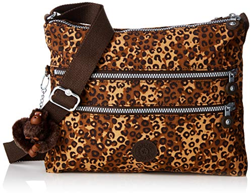 Kipling Damen ALVAR Umhängetasche, Mehrfarbig (Mixed Cheetah B) 33x26x4.5 cm -