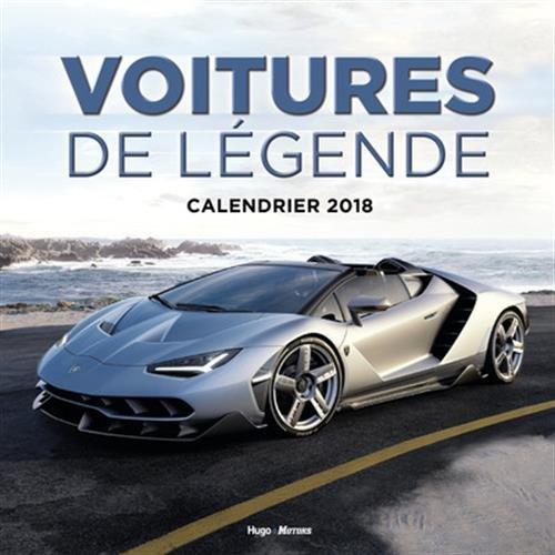 Calendrier mural Voitures de Légende 2018