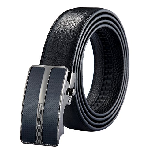 gaodeng-mens-belt-auto-buckle-adjustable-genuine-leather-luxury-series-gray