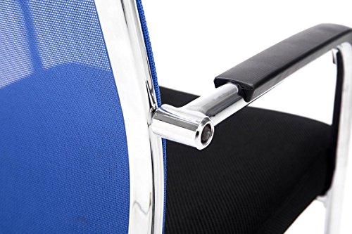 CLP Freischwinger-Stuhl mit Armlehne BRENDA, Blau - 5