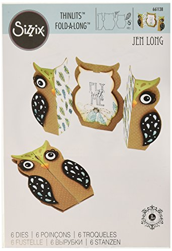 Sizzix Thinlits Dies 6/Pkg-Owl Fold-A-Long Card - Singles Sizzix Sizzlits