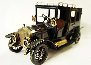 Collection-Passion 26 CM de Longueur Voitures miniatures Ancienne Bronze 19th Siecle TAXI Voiture Modele Faite A la Main en Acier L04