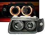 AD Tuning GmbH & Co. KG 960392 Angel Eyes Scheinwerfer Set, Klarglas Schwarz