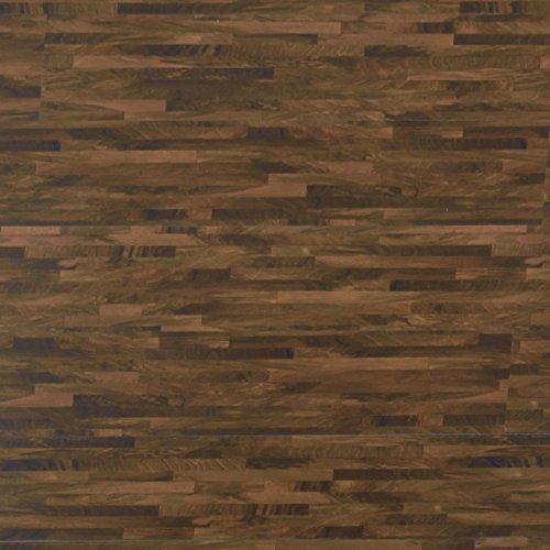 Premium Vinyl Dielen   EN klassifiziert + Emissionsfrei   Silent Step Blockwood Nussbaum   Stecksystem   edle Holzoptik   10,56 qm (48 Stück)