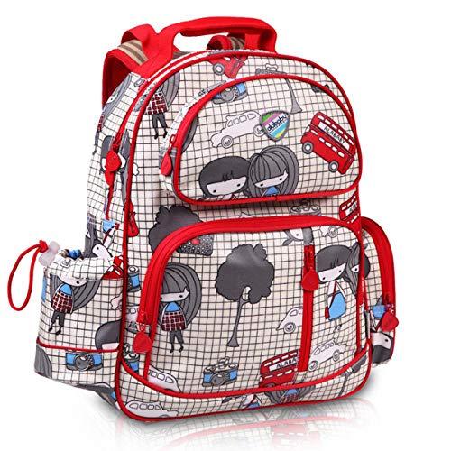 WNUVB Kinder Rucksack, Tarnung Rucksack Schüler 1-6 Grade Tasche Anime Cartoon Atmungs Rucksack Mode Lässig Leinwand Computer Tasche D-40 * 31 * 13 cm -