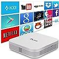 AKASO TX95 Android TV Box Kodi 16.1 Pre-installed Android 6.0 Marshmallow, Quad Core 2G 16G Marshmallow 1000M LAN 3D 4K UHD Bluetooth 4.1 Dual WiFi Streaming Media Player