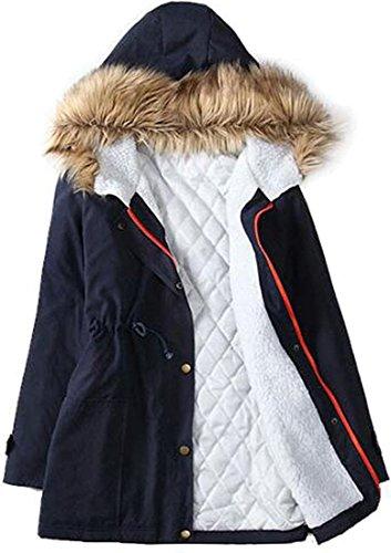 jeansian Damen Profondo scollo a v principessa Long Max con stampa floreale Kleider Tops WHS019 Blue XL [Apparel] (Pullover Coat Petite)