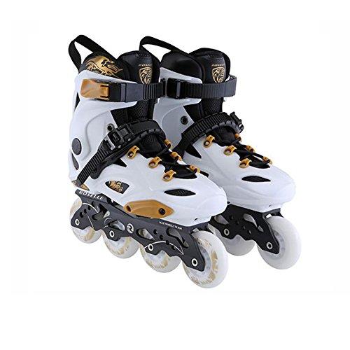 Sunkini Schlittschuhe Erwachsene Inline Skates Skating Schuhe für Männer und Frauen PP Material ABEC-9 Lager Reisen Urban Outdoor Verwendung, Weiß (Größe : 40)